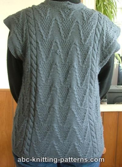 Knitted Vests Free Patterns : PATTERNS FOR KNITTED VESTS   Free Patterns